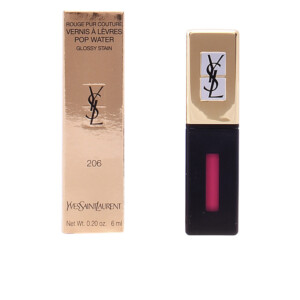 ROUGE PUR COUTURE POP WATER glossy stain #206-misty pink 6ml
